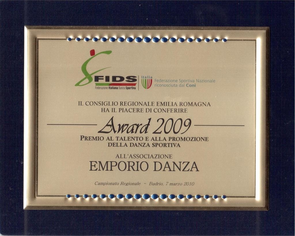 awards 2009 - EMPORIO DANZA